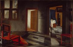 Samuel van Hoogstraten a peepshow with views of the interior of a dutch house c 1655-60
