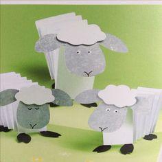 Eid Crafts, Bible Crafts, Easter Crafts, Sheep Crafts, Nativity Crafts, Spring Crafts For Kids, Diy For Kids, Cain Y Abel, Lamb Craft