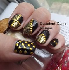 GOLD 2mm ROUND Metal Studs 100 Pieces Nail by DecadentDameDesigns, $1.99