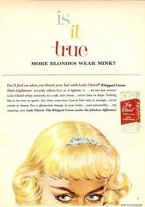Is it true blondes wear more mink? 1960s Lady Clairol ad campaign variation