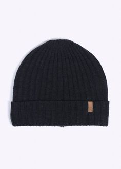 Fjallraven Byron Lambswool Thin Knit Beanie Hat - Graphite