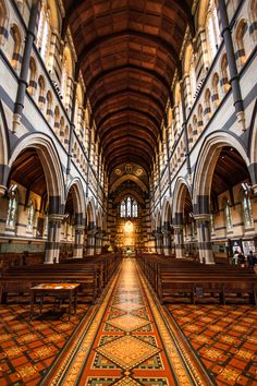 St Paul's Cathedral / Melbourne, Victoria in Australia. It is the seat of the Anglican Archbishop of Melbourne. Perth, Brisbane, Visit Melbourne, Melbourne Australia, Australia Travel, Melbourne Architecture, Sacred Architecture, Church Architecture, Amazing Architecture