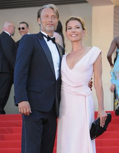 Mads Mikkelsen and Hanne Jacobsen attend the 'Zulu' Premiere and Closing Ceremony during the Annual Cannes Film Festival at the Palais des. Hanne Jacobsen, It Takes Two, Mads Mikkelsen, Zulu, Film Industry, Cannes Film Festival, Formal Dresses, Wedding Dresses, Picture Photo