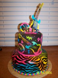 rock star cake By brittanyjo29 on CakeCentral.com