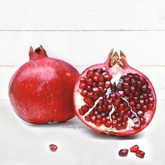 Don't be intimidated. This step-by-step tutorial will show you how to cut a pomegranate and easily remove the seeds without getting cracked skin or stains on your clothes! -- FamilySpice.com #pomegranate