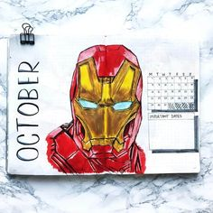 Looking for some awesome Avengers and Justice League Bullet Journal Spread inspiration? We have over DC Comics and Marvel themed bujo spreads to show you! Bullet Journal For Men, Bullet Journal Mood Tracker Ideas, Bullet Journal October, Bullet Journal Lettering Ideas, Bullet Journal Spread, Bullet Journal Ideas Pages, Batman Comic Art, Gotham Batman, Batman Robin