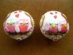 Valentine Owl Cupcakes