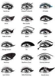 "All the designer eye makeup tips you could ever want in one place. - have to click the link later.  for right now, check out this eyeliner chart"" data-componentType=""MODAL_PIN"