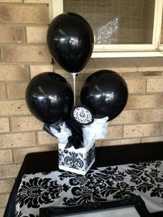 A perfect alternative to the budget that doesnt included helium balloons. These quick and easy balloon arrangements require nothing more than some oasis, a vase, balloons and balloon sticks. I have added some tissue paper to fill in around the base. These balloon arrangements can be altered to suit any theme.
