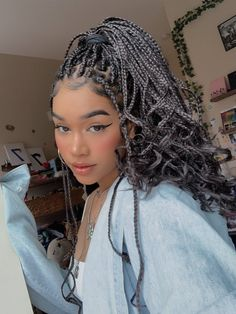 Image about girl in Hair,makeup,nails&beauty💄💅💇 by 💫Haven K. Box Braids Hairstyles, Black Girl Braided Hairstyles, Black Girl Braids, Baddie Hairstyles, Braids For Black Hair, Girls Braids, Protective Hairstyles, Girl Hairstyles, Updo Hairstyle