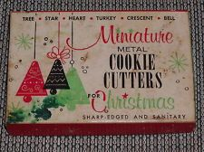 holiday cookies cookie cutters vintage cookies no bake cookies christmas holiday tin pewter - Metal Christmas Cookie Cutters