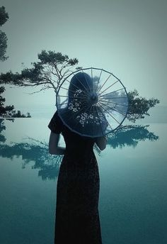 Beautiful, I especially love the interplay of translucent parasol and tree behind it.