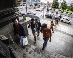 Men on Stairs, Umbrella