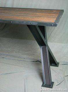 Industrial Desk. Modern Dining Table. Vintage Industrial Table. Modern  Office Furniture. Reclaimed Wood Desk. Architectural Desk Urban Table