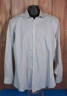 Jhane Barnes Mens Long Sleeve Slim Fit Non Iron Dress Shirt Size 16.5 34 #7 #JhaneBarnes