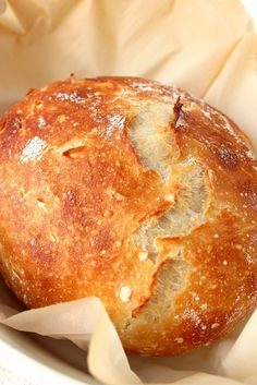 No-Knead Bread recipe - the best and easiest way to make perfect sourdough bread at home! No kneading needed! This recipe is super easy to and make the best bread loaf at home. Crock Pot Recipes, Crock Pot Bread, Slow Cooker Recipes, Cooking Recipes, Meat Recipes, Bread Crockpot, Bread In Slow Cooker, Recipies, Slow Cooker Breakfast