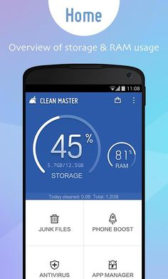 Clean Master v5.9.4 Apk is very powerful software tool to speed up and optimize Android smartphones, which users install on their android device and can detect