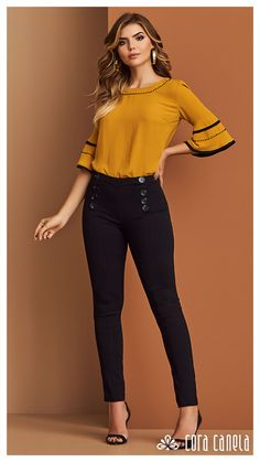 58 Ideas For Clothes For Women Tops Outfit Casual Work Outfits, Classy Outfits, Casual Dresses, Look Fashion, Fashion Outfits, Look Office, Only Shirt, Sleeves Designs For Dresses, Cute Blouses