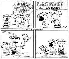 First Appearance: May 13th #peanutsspecials #pnts #schulz #snoopy #charliebrown #lucy #fancy #baseball #twohands #clomp