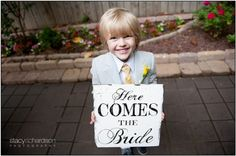 Love this little guy's sign!  Photo courtesy of Stacy Richardson Photography.