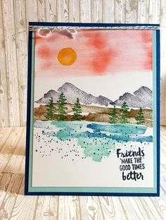 I was so happy to see the Waterfront stamp set from Stampin' Up! Occasions catalog win the Stamp of the Month for February. This stamp set ...