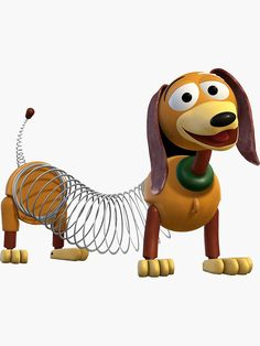 'Slinky Dog' Sticker by Susealycone Toy Story Theme, Toy Story Party, Toy Story Birthday, Slinky Toy, Toy Story Slinky, Desenho Toy Story, Festa Toy Store, Dibujos Toy Story, Imprimibles Toy Story Gratis