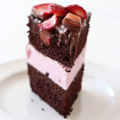 Homemade Chocolate Covered Strawberry Ice Cream Cake is delightfully fruity, frosty, and impressive making it the perfect special cake for summer.