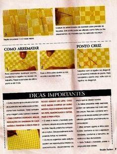 GRÁFICOS DA ANA: como bordar tecido xadrez