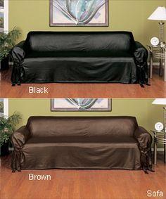 faux leather slipcover sofa. Interior Design Ideas. Home Design Ideas