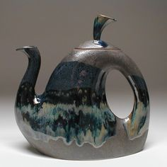 Slab Built Pottery Teapot by Rob Mangum in Western North Carolina