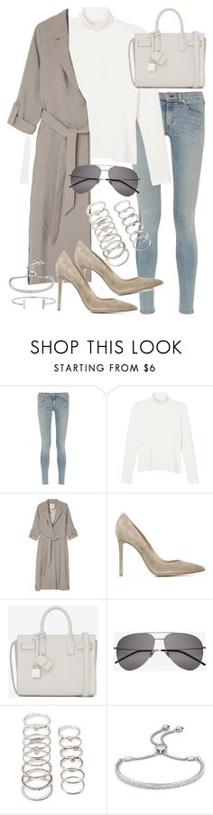"""""""Untitled #19623"""" by florencia95 ❤ liked on Polyvore featuring rag & bone, Monki, Gianvito Rossi, Yves Saint Laurent, Forever 21, Monica Vinader and Humble Chic"""