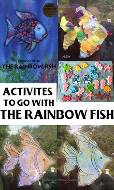 The Rainbow Fish by Marcus Pfister – 37 Fishy Activities & Art Projects Rainbow Fish Activities, Ocean Activities, Classroom Activities, Preschool Activities, Educational Activities, Preschool Books, Preschool Crafts, Kindergarten, Ocean Themes