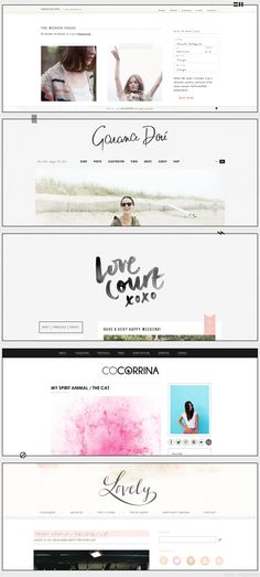 Beautiful Blog Designs - lots of good inspiration here