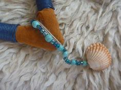 Water Tepi with shell and turquoises. Particular of the decoration. www.facebook.com/MotherofWater