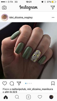This Content For You Personally If You Like green nails Don't Ignore These Guidelines Green Nail Designs, New Nail Designs, Creative Nail Designs, Short Nail Designs, Creative Nails, Perfect Nails, Gorgeous Nails, Cute Nails, Pretty Nails