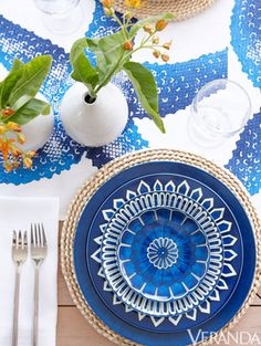 Blue and White Monday at the Table
