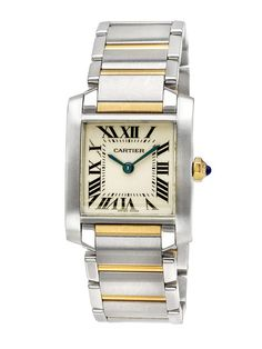 Estate Watches Women's Cartier Tank Francaise Two Tone Watch