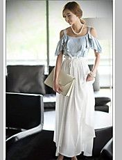 Bohemian Style Color Panel Suspender Dress For Women Suspender Dress, Chiffon Maxi Dress, Maxi Dresses, Formal Dresses For Women, Cheap Dresses, Types Of Fashion Styles, Ideias Fashion, Shoulder, Bohemian Style