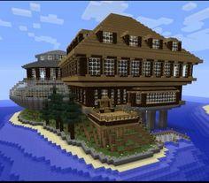 Minecraft Villa, Minecraft Mansion, Cute Minecraft Houses, Minecraft Plans, Minecraft House Designs, Minecraft Survival, Minecraft Tutorial, Minecraft Architecture, Minecraft Blueprints
