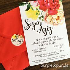 Renkli Çiçekli Düğün Davetiyesi | Yaz Düğünleri | Wedding Invitations | Floral Wedding