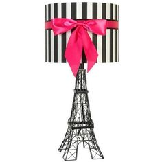 Eiffel Tower Table Lamp in Solid Black | Nebraska Furniture Mart ($37) ❤ liked on Polyvore featuring home, lighting, table lamps, onyx lamp, black lights, eiffel tower lights, black lamp and onyx table lamps