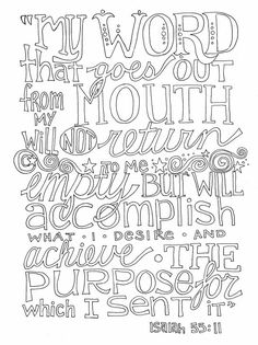 Isaiah 55 free coloring page word art