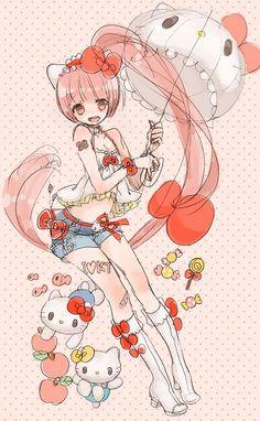 Nekomura Iroha....hello kitty themed