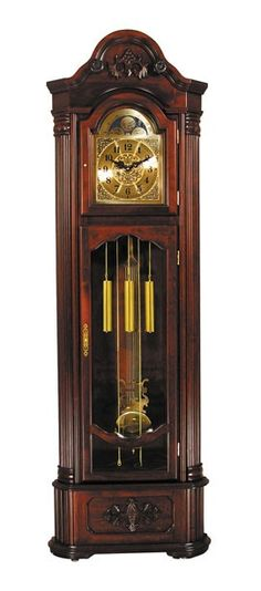 Marc Victorian Cherry Finish Corner Grandfather Clock - Main Image