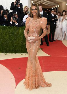 And finally, Beyoncé looked like she wore Becky's skin. Flawlessly, of course. | 25 Things Celebs Looked Like At The 2016 Met Gala