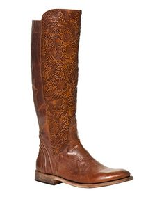 Luggage Leather Virginia Boot - Women
