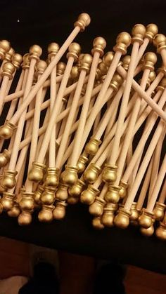 Scroll Invitation Rods: perfect for invitations! Set of 10 pre-assembled scroll rods. 20 total pieces. Makes 10 scroll invitations. Rods are