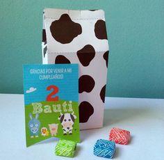Printable milkbox favor box farm animals Thanks You by CumpleKits