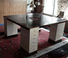 dyi craft tables | Dude Craft: Ikea Hacker - Craft Table for Four