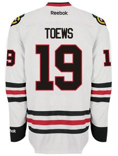 Chicago Blackhawks Mens Jonathan Toews Premier Road Jersey with AUTHENTIC TACKLE-TWILL LETTERING